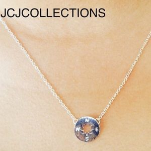 Jewelry - ✨925 Sterling Silver Circle Compass Necklace✨
